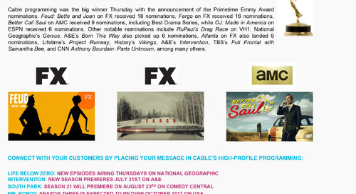 SMART BUY: Emmy Nomination Success for Cable
