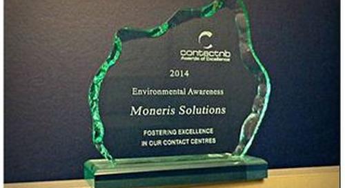 Moneris presented with ContactNB Environmental Awareness Award
