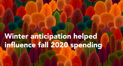 Winter anticipation helped influence fall 2020 spending
