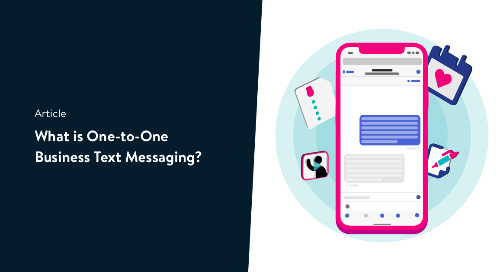 What is one-to-one business text messaging?