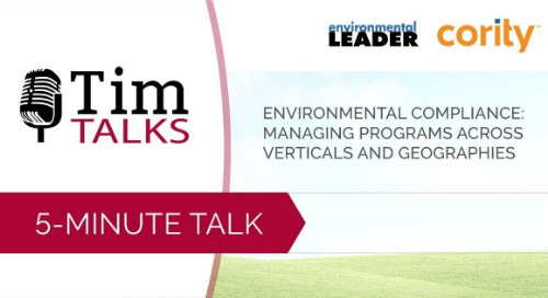 Environmental Compliance: Managing Programs Across Verticals and Geographies