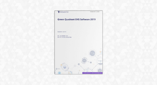 Verdantix Green Quadrant EHS Software 2019