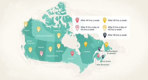 Canadian Infographic: When Do I Need to Pay Overtime?