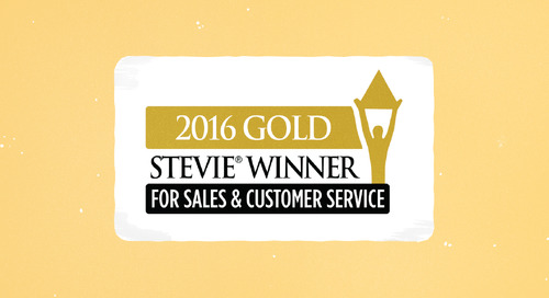 Wagepoint Wins Gold Stevie® in 2016 Stevie Awards for Sales & Customer Service