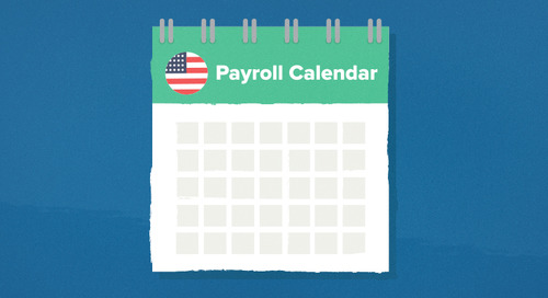 Wagepoint Annual Payroll Calendar for the United States