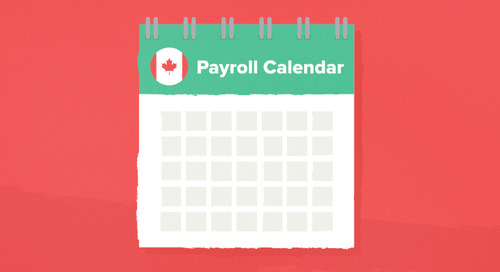 Wagepoint Annual Payroll Calendar for Canada