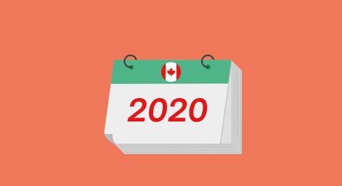 2020 Canadian Small Business Payroll Calendar
