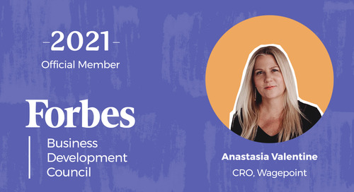 Wagepoint CRO, Anastasia Valentine, Joins Forbes Business Development Council