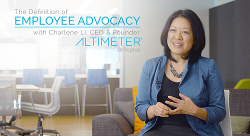 Charlene Li of Altimeter Defines Employee Advocacy