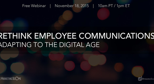Rethink Employee Communications - Adapting to the Digital Age