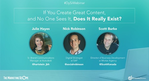 If You Create Great Content, and No One Sees It, Does It Really Exist?