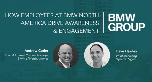 How Employees at BMW NA Drive Awareness & Engagement