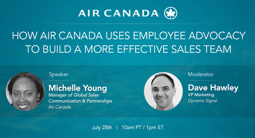 How Air Canada Uses Employee Advocacy to Build a More Effective Sales Team