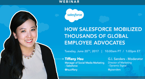 How Salesforce Mobilized Thousands of Global Employee Advocates