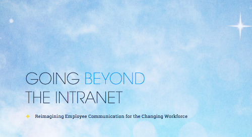Going Beyond the Intranet