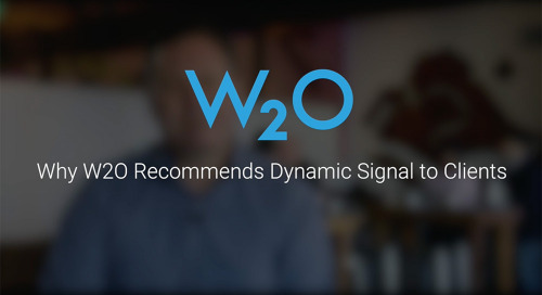 Why W2O Recommends Dynamic signal to Clients