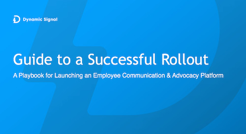 Playbook for launching an employee communication and advocacy program