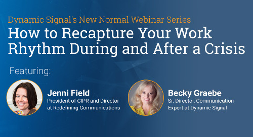 How to Recapture Your Work Rhythm During and After a Crisis (Pres Deck)