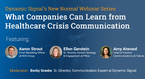 What Companies Can Learn from Healthcare Crisis Communication (Webinar Recording)
