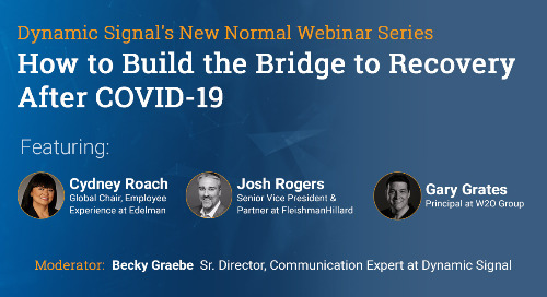 How to Build the Bridge to Recovery After COVID-19 (Pres Deck)