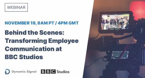 Behind the Scenes: Transforming Employee Communication at BBC Studios (Webinar Recording)