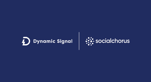 SocialChorus and Dynamic Signal Complete Merger