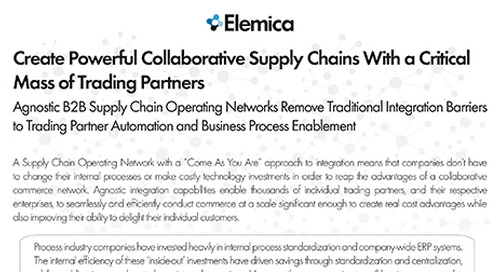 Create Powerful Collaborative Supply Chains With a Critical Mass of Trading Partners