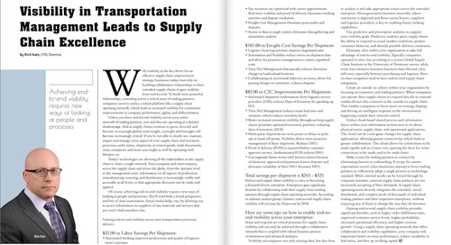 Elemica Featured in Logistics Tech Outlook Magazine