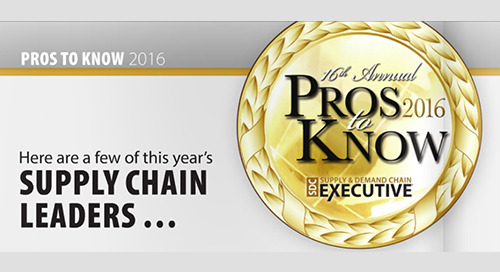 Elemica Featured in Supply & Demand Chain Executive's Pros to Know Cover
