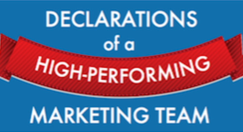 Declarations of a High-Performing Marketing Team