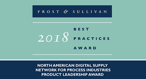 Elemica Receives Best Practices in Product Leadership in the Digital Supply Network for Process Industries Award