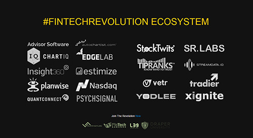 Fintech Innovators Join Forces to Launch the #FintechRevolution API Ecosystem
