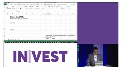 Demo: Real-time Market Data in Excel