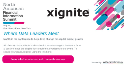 Xignite CEO to Give Keynote on Migrating Market Data to the Cloud at The North American Financial Information Summit - NAFIS 2019