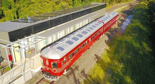 The first solar power train makes its debut