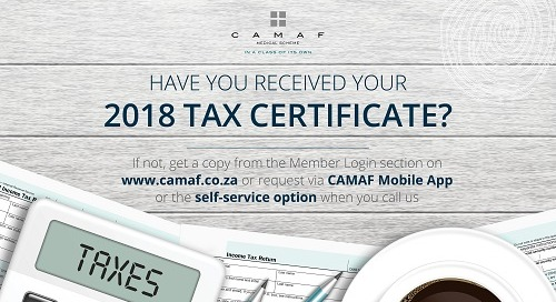 Get Your 2018 Tax Certificate