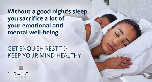 A Healthy Mental State Needs a Good Night's Rest