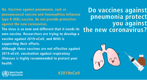 #Coronavirus - Do vaccines against Pneumonia protect you?