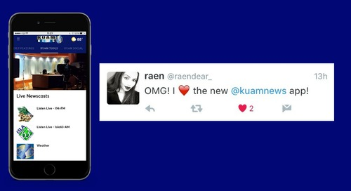 KUAM News Redesigns New App that Fans 💙