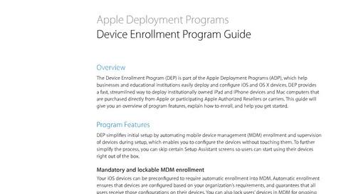 Device Enrollment Program Guide