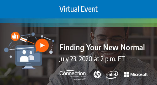 Register Today! Finding Your New Normal Virtual Event