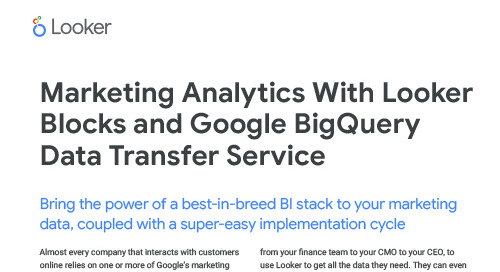 Looker Blocks for Google BigQuery Data Transfer Service