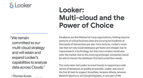 Looker: Multi-cloud and the Power of Choice - Solution Brief