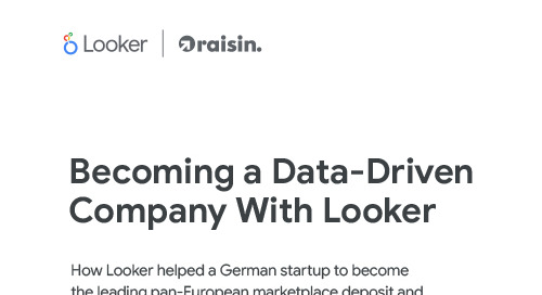 Raisin: Becoming a Data-Driven Company with Looker