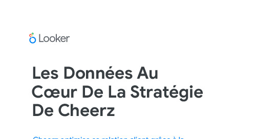 Les données au cœur de la stratégie de Cheerz