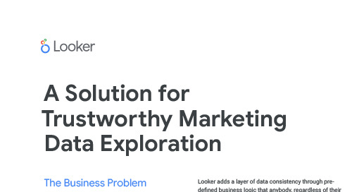 Looker & SuperMetrics: A Solution for TrustWorthy Marketing Data Exploration