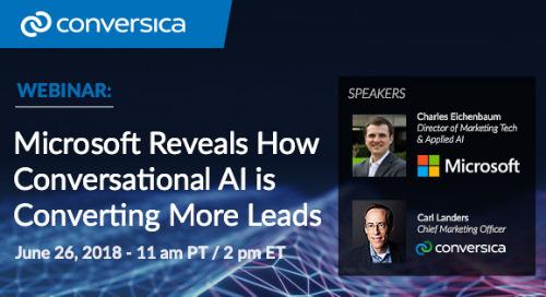 June 26 at 11 am PT / 2 pm ET: Webinar - Microsoft Reveals How Conversation AI is Converting More Leads
