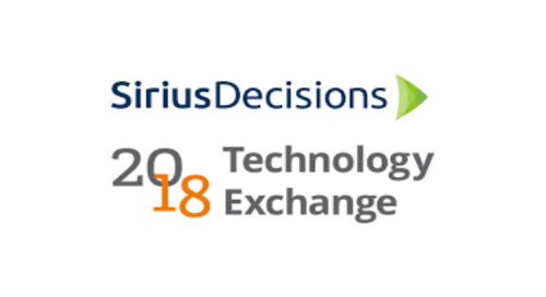 November 7-9, 2018: SiriusDecisions Technology Exchange (New Orleans, LA)