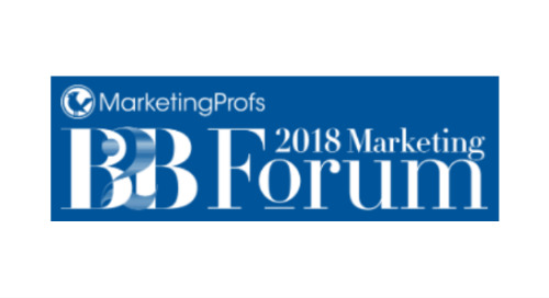 November 13-16, 2018: MarketingProfs B2B Marketing Forum (San Francisco, CA)