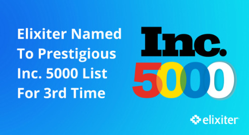 Elixiter Named to Inc. 5000 List For Third Consecutive Year